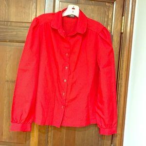 Elaine Seinfeld Halloween costume red blouse.